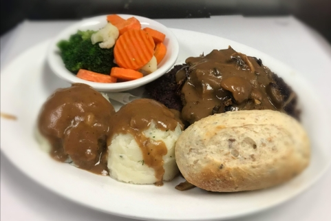 2 Pc Salisbury Steak